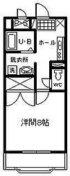 サンライズ山田[405号室]の間取り