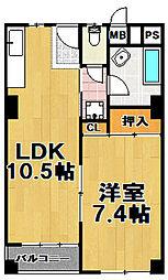 千鳥橋団地2号棟[1階]の間取り
