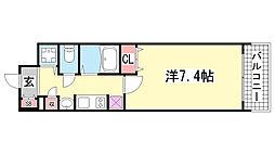 プレサンス神戸駅前グランツ[806号室]の間取り