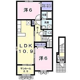 デーアⅡ[2階]の間取り