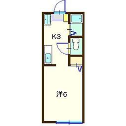 ハイツデンファレ[1階]の間取り