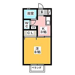 サイクロン[2階]の間取り