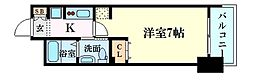 Osaka Metro御堂筋線 新大阪駅 徒歩10分の賃貸マンション 2階1Kの間取り