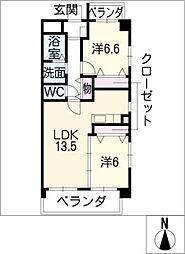ブランコート戸田[2階]の間取り