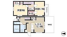 [テラスハウス] 愛知県名古屋市名東区梅森坂3丁目 の賃貸【/】の間取り