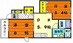 山手メゾン壱 D[1階]の間取り