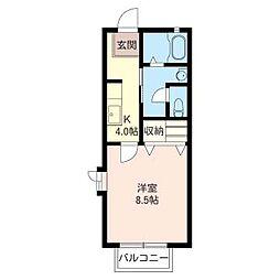 ガーデンヒルB[2階]の間取り