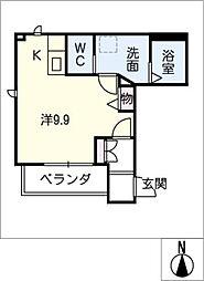 愛知県安城市今池町1の賃貸アパートの間取り