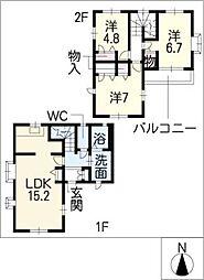 [一戸建] 愛知県名古屋市西区堀越3丁目 の賃貸【/】の間取り