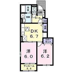 M's garden 田口 II[1階]の間取り