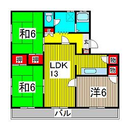 第一西形マンション[205号室]の間取り