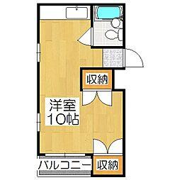 ルポール麩屋町[5階]の間取り