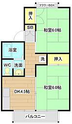 第8摂津グリーンハイツ[1階]の間取り