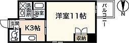 ヴァンサンク堺町[4階]の間取り