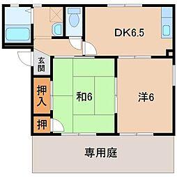 和歌山県和歌山市有本の賃貸アパートの間取り
