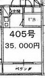 パークワン[405号室号室]の間取り