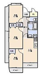 ドーチェスター[4階]の間取り