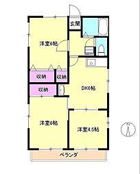東京都多摩市連光寺6丁目の賃貸アパートの間取り