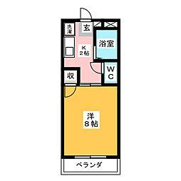 グリーンパーク賞田[4階]の間取り
