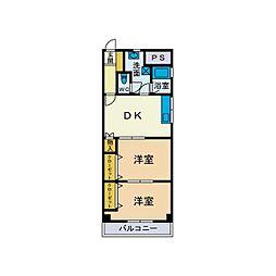 メゾンサンサーラ[2階]の間取り