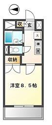 愛知県日進市浅田平子2丁目の賃貸アパートの間取り