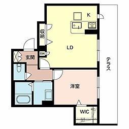 (仮称)堺市堺区シャーメゾン三国ヶ丘[1階]の間取り