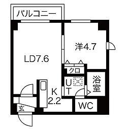 GARE89[302号室]の間取り