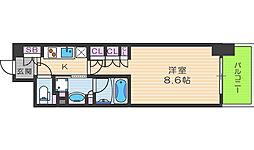ザ・パークハビオ堂島[12階]の間取り