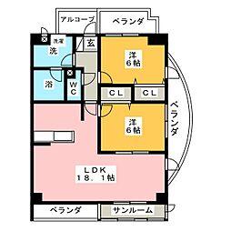 FORM GP[3階]の間取り