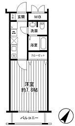 ダイドーメゾン神戸元町[3階]の間取り
