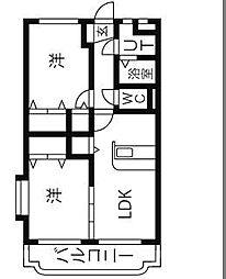 ユーミーKAZU[2階]の間取り
