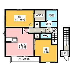 レセンテ・ウィル[2階]の間取り