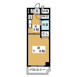 びい6植田[4階]の間取り