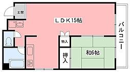 東陽マンション[201号室]の間取り