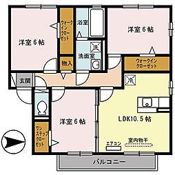 エスペランサB棟[2階]の間取り