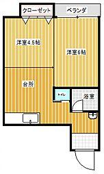 八幡屋ビル[32号室号室]の間取り