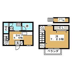 [テラスハウス] 宮城県仙台市若林区穀町 の賃貸【/】の間取り