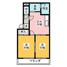 スプリング岩崎III[2階]の間取り