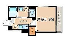 JR山手線 目黒駅 徒歩8分の賃貸マンション 1階1Kの間取り