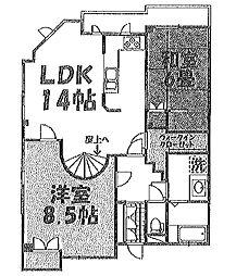 笠間ビル[3階]の間取り