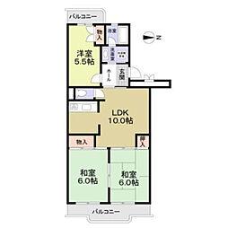 ローレルマンションMURATA[3階]の間取り
