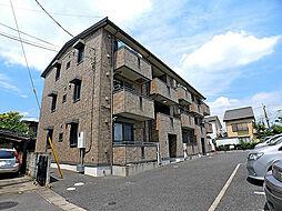 埼玉県越谷市大字袋山の賃貸アパートの外観