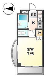 サンマンション大曽根[4階]の間取り