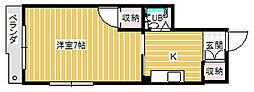 香川県高松市築地町の賃貸アパートの間取り