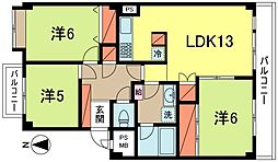 東京都杉並区桃井3丁目の賃貸マンションの間取り