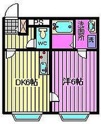 ベルピア熊谷第4[107号室]の間取り