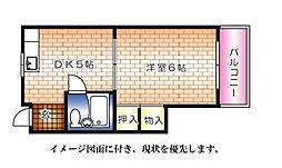 広島県広島市中区舟入本町の賃貸マンションの間取り