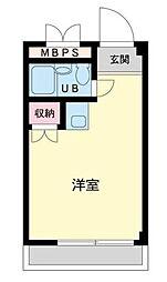 ランドフォレスト東豊田[203号室]の間取り