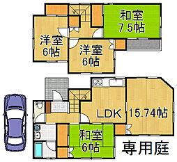 [一戸建] 埼玉県越谷市相模町3丁目 の賃貸【/】の間取り