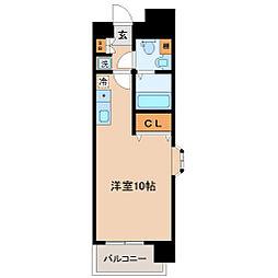SUM広瀬通 9階ワンルームの間取り